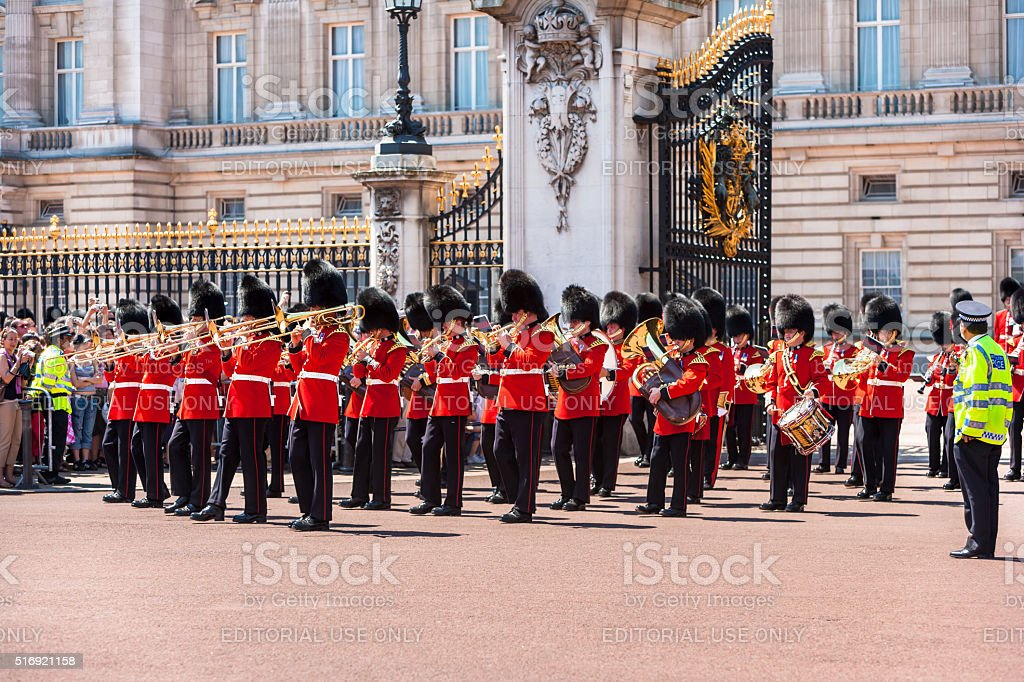 The changing of the Guard at Buckingham Palace, London, UK stock photo