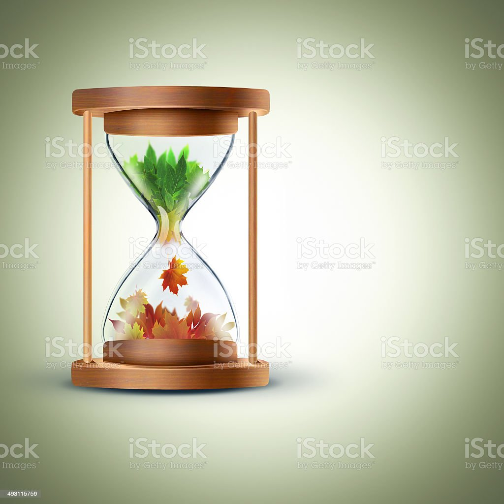 the changing seasons concept stock photo