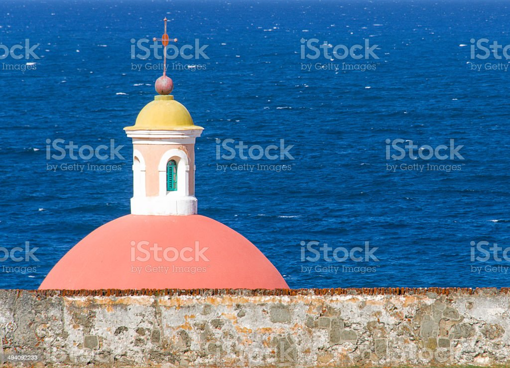 The Chapel at El Morro Old San Juan stock photo