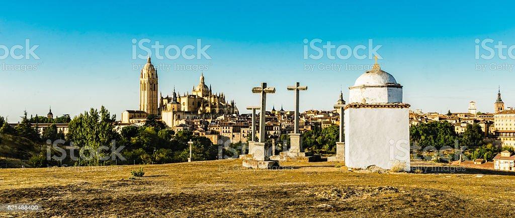 The Chapel of Mercy of Segovia stock photo