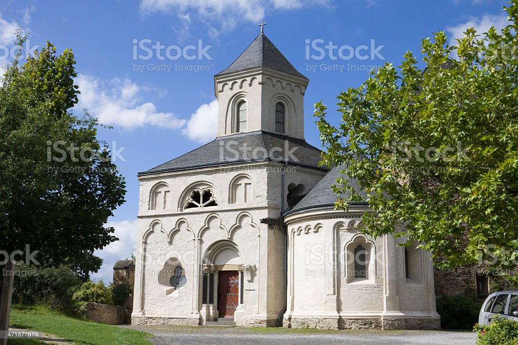 The chapel of St. Matthias in Kobern-Gondorf, Germany royalty-free stock photo