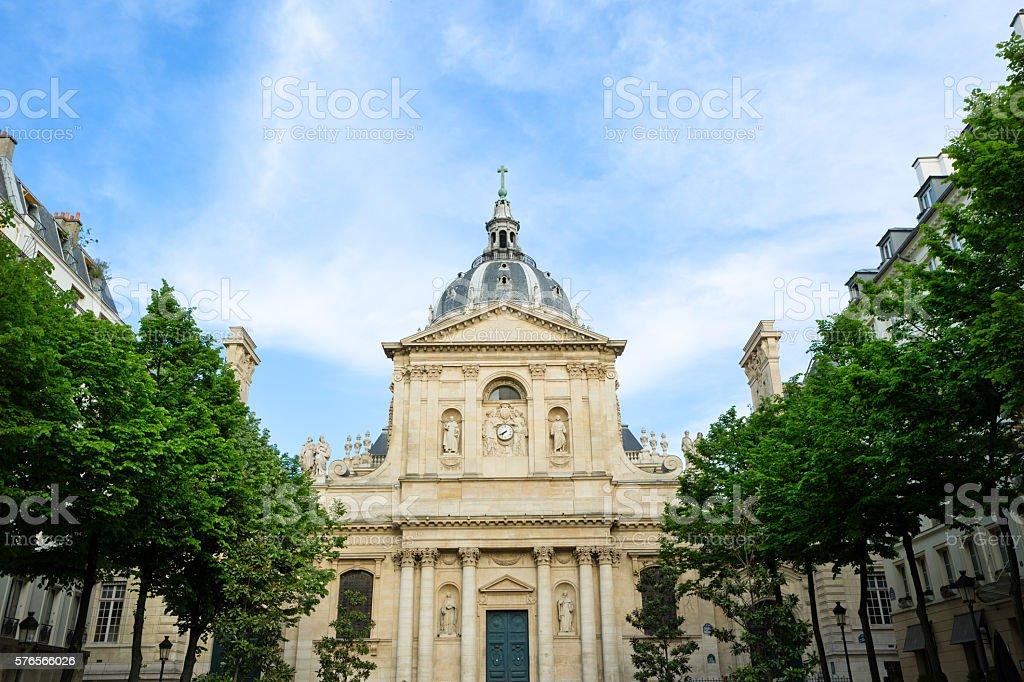 The Chapelle de la Sorbonne stock photo