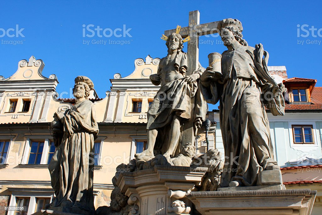 The Charles bridge is located in Prague, Czech Republic. Finishe stock photo