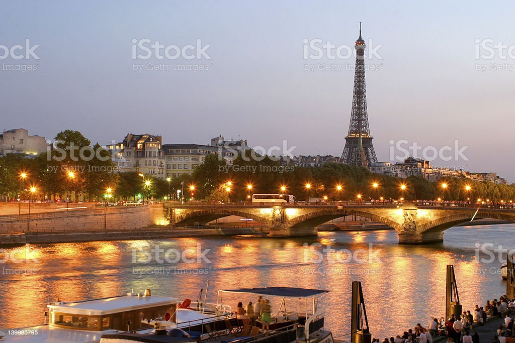 the charm of Paris by night royalty-free stock photo