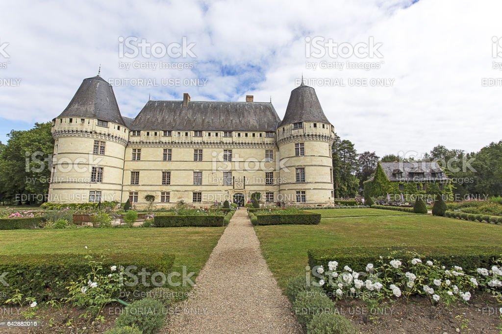The chateau de l'Islette, France stock photo