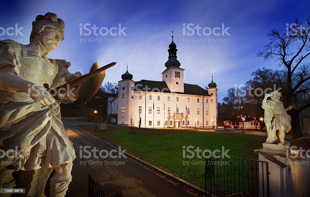The Chateau Hotel of Trest stock photo