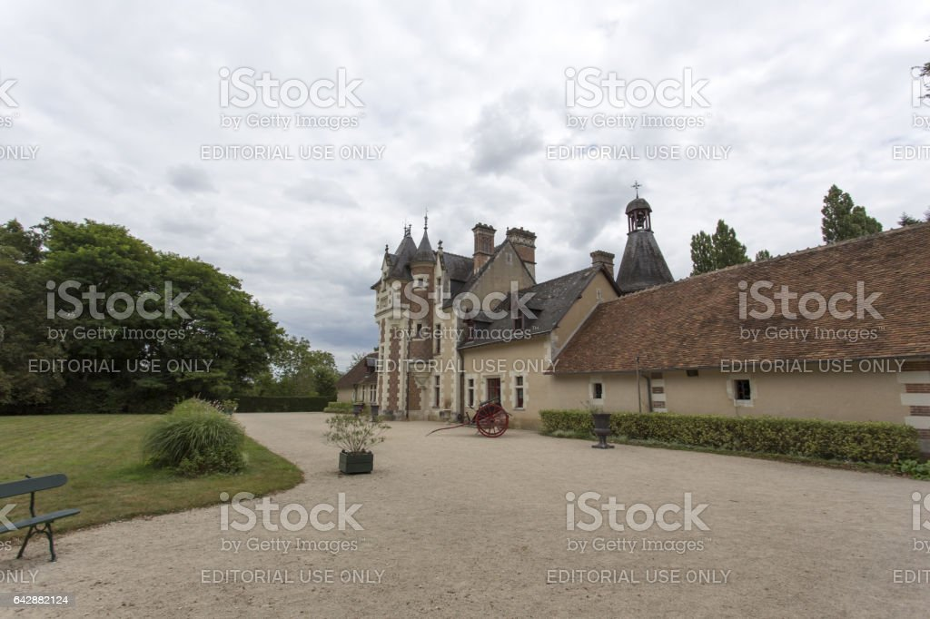 The chateau of Troussay, France stock photo