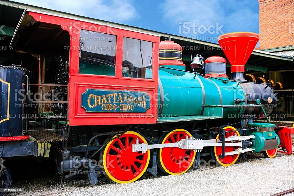 The Chattanooga Choo-Choo locomotive at the former Terminal Station, Tennessee stock photo