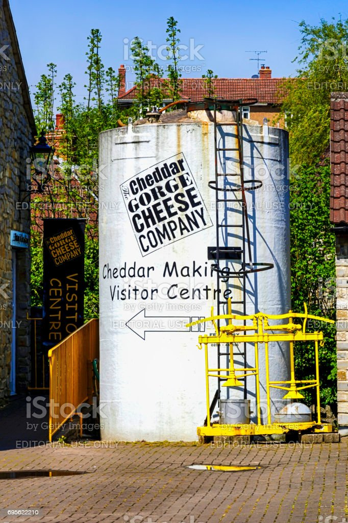 The Cheddar Gorge Cheese Company buildings in Somerset, UK stock photo