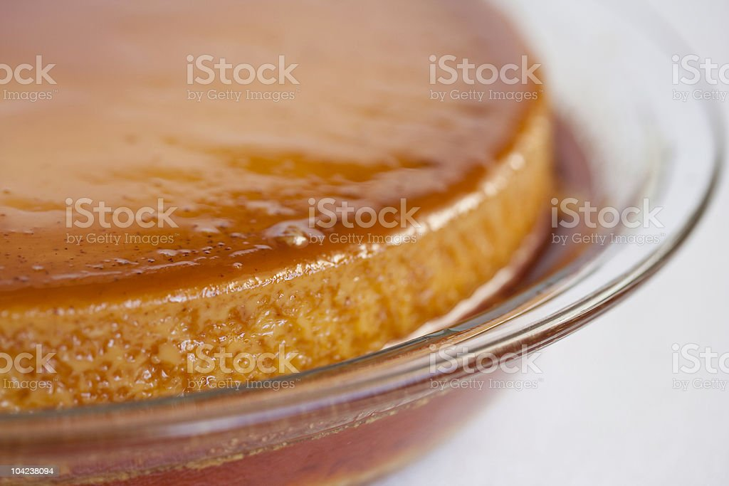 El Flan de Queso stock photo