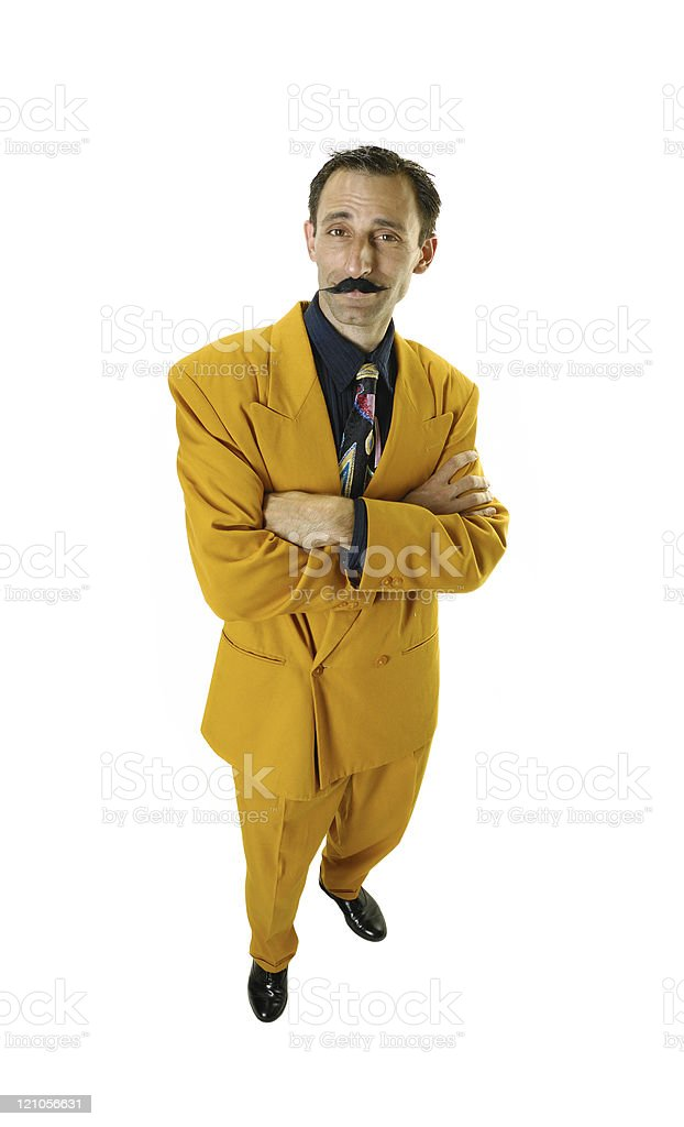 The cheesey salesman stock photo
