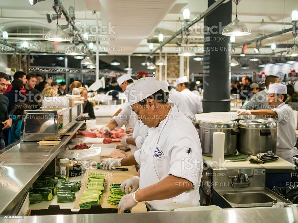 The Chefs at Chelsea Market stock photo