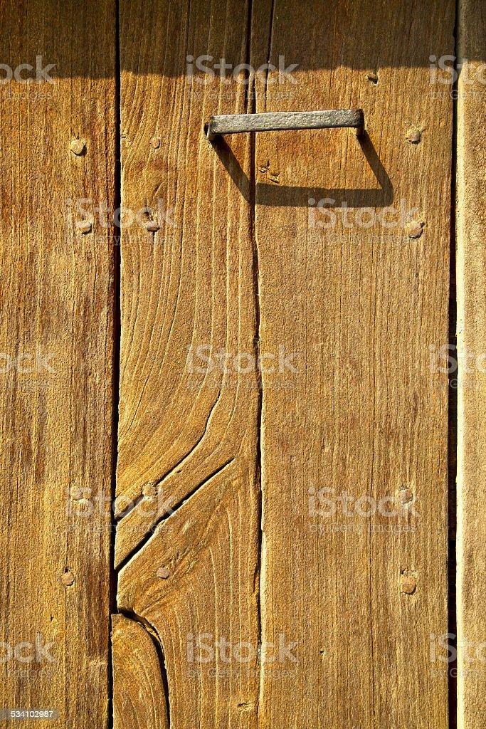 the   cheglio rusty brass brown knocker stock photo