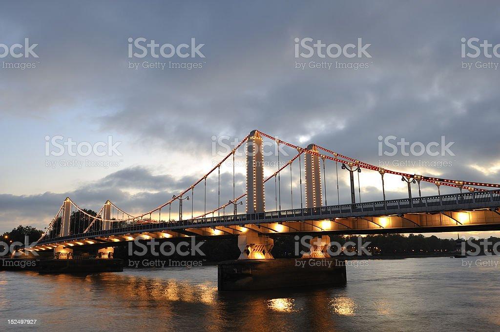 The Chelsea bridge stock photo