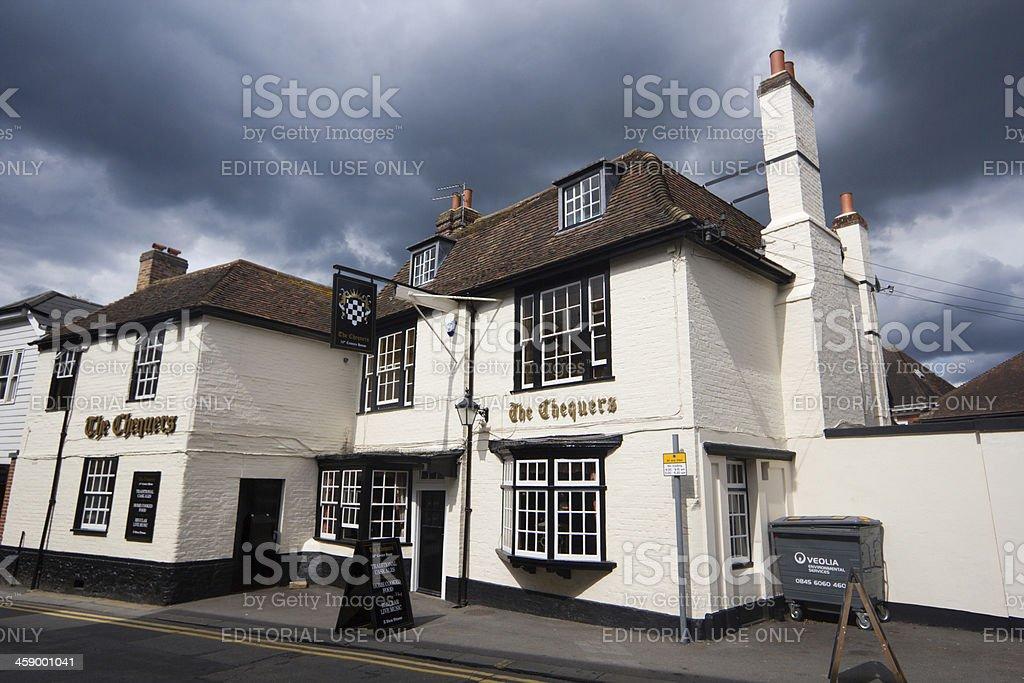 The Chequers in Sevenoaks, England stock photo