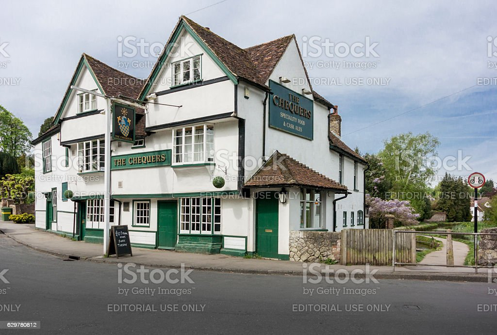 The Chequers Public House, Loose, Kent, UK stock photo