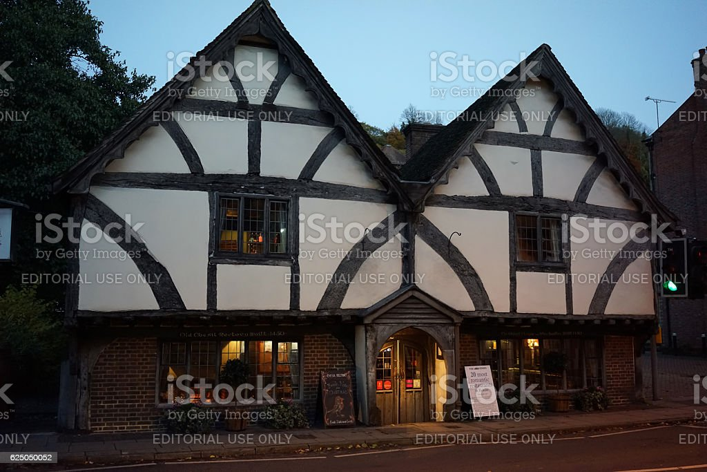 The Chesil Rectory restaurant in Winchester stock photo
