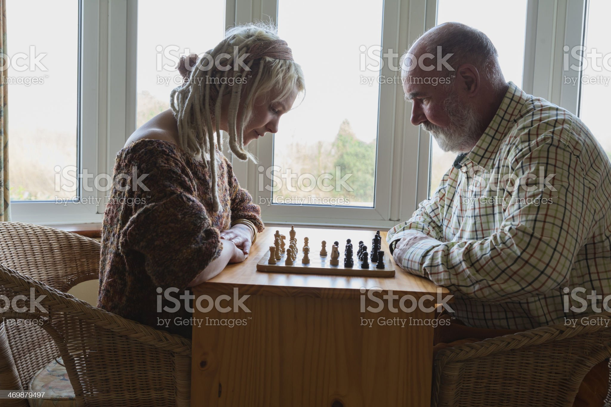 The Chess Players royalty-free stock photo