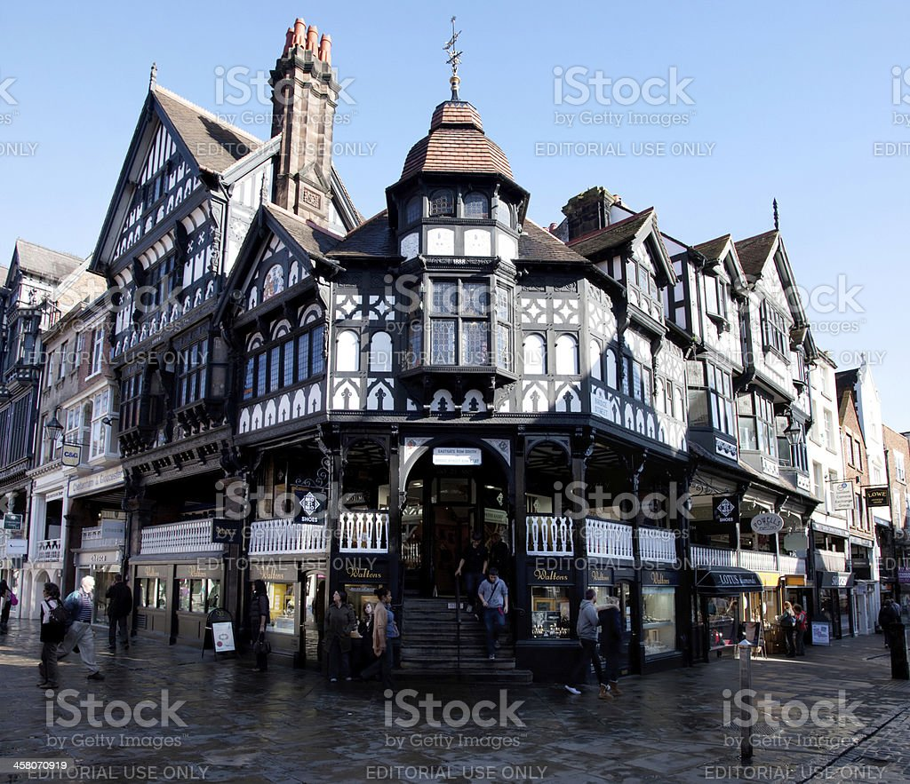 The Chester Shopping Rows royalty-free stock photo
