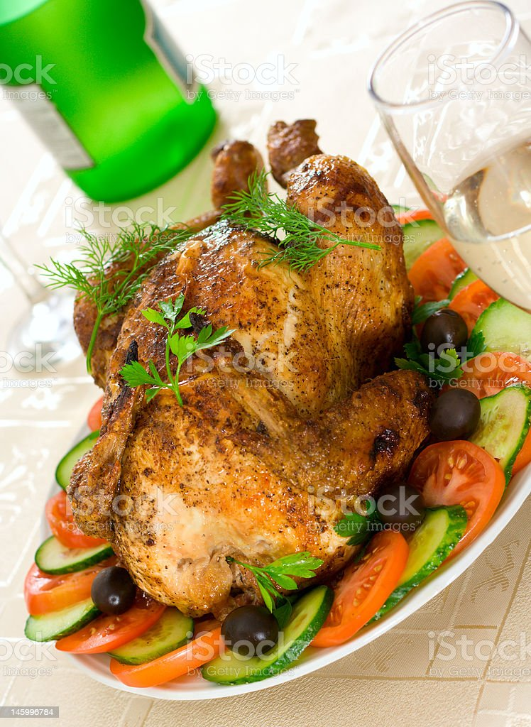 The chicken a grill royalty-free stock photo