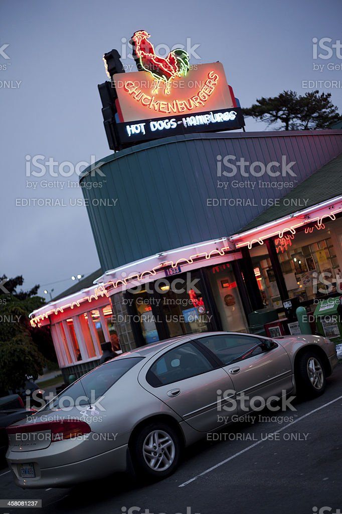 The Chickenburger Drive-in Restaurant royalty-free stock photo