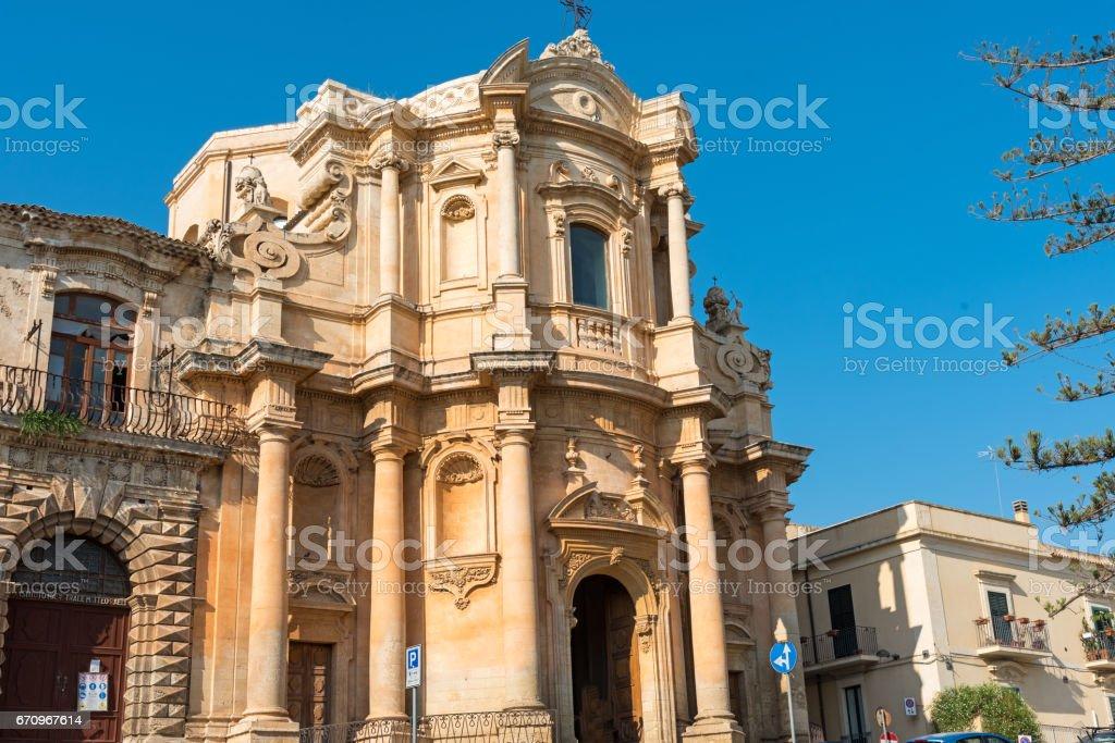 The Chiesa di San Domenico in Noto, Sicily stock photo