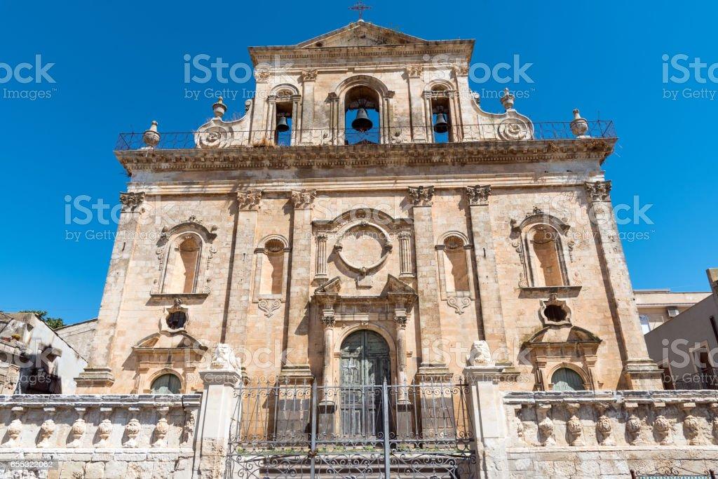 The Chiesa di San Sebastiano in Buscemi stock photo