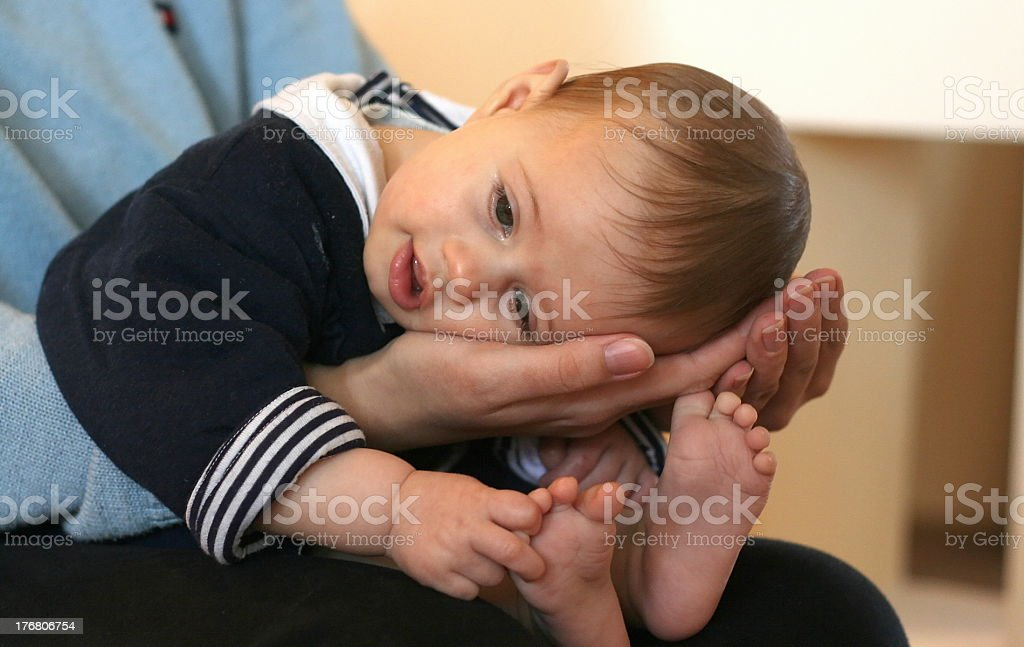The child and mom stock photo