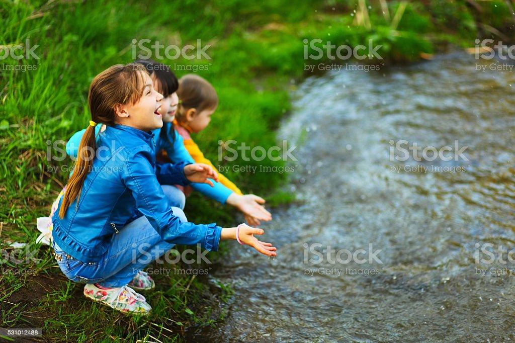 The child happy. stock photo