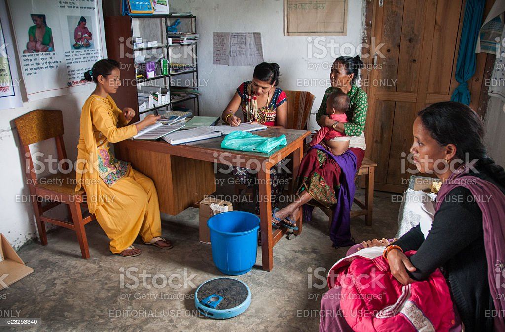 The child health consultation stock photo