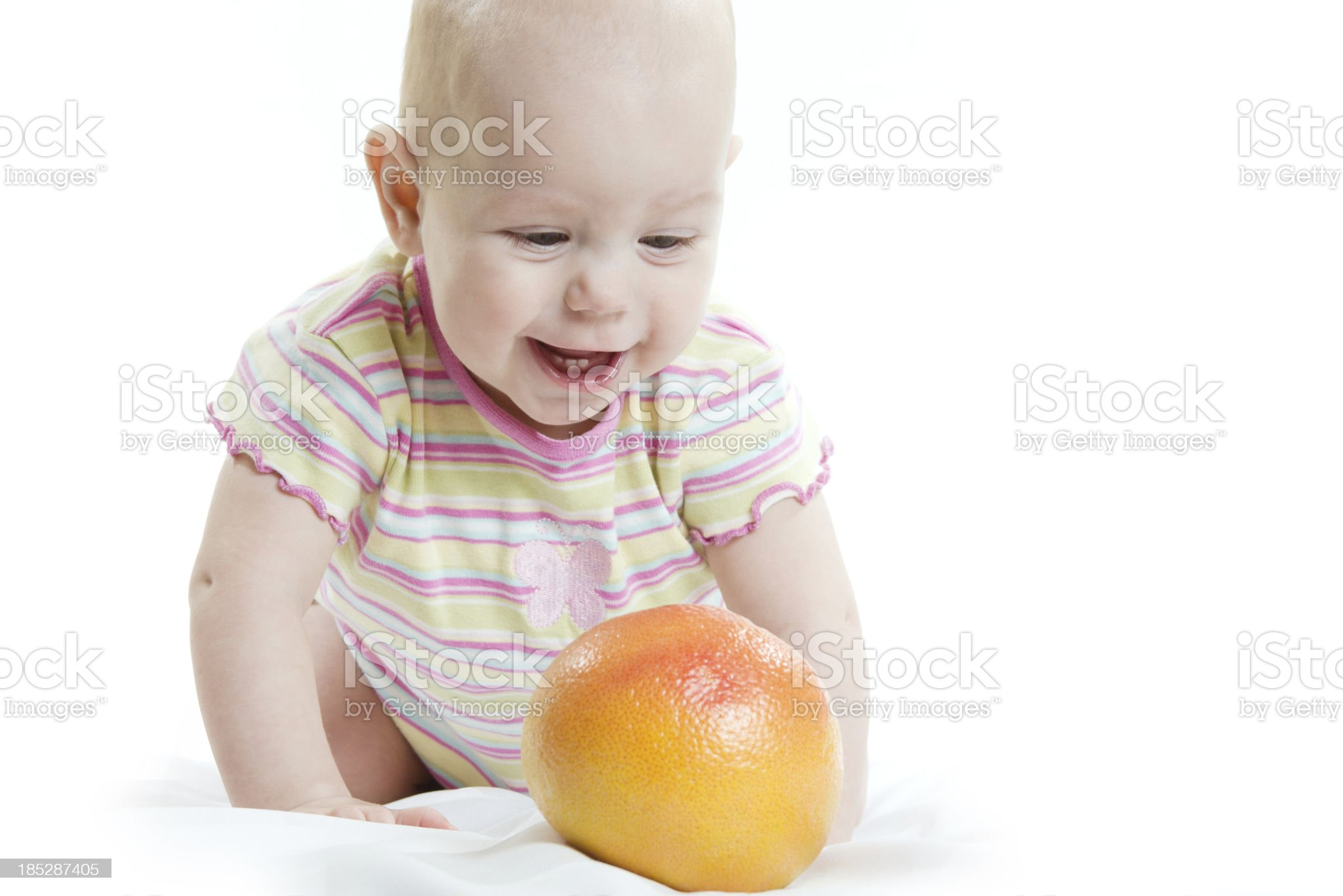The child with orange royalty-free stock photo