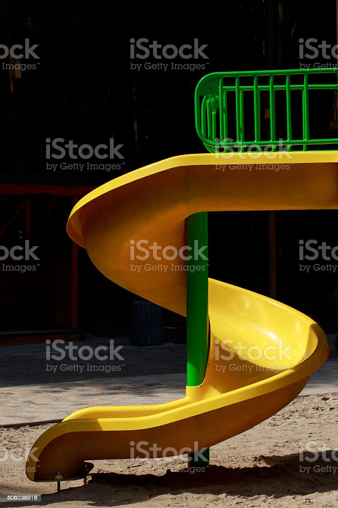 the children's slides stock photo
