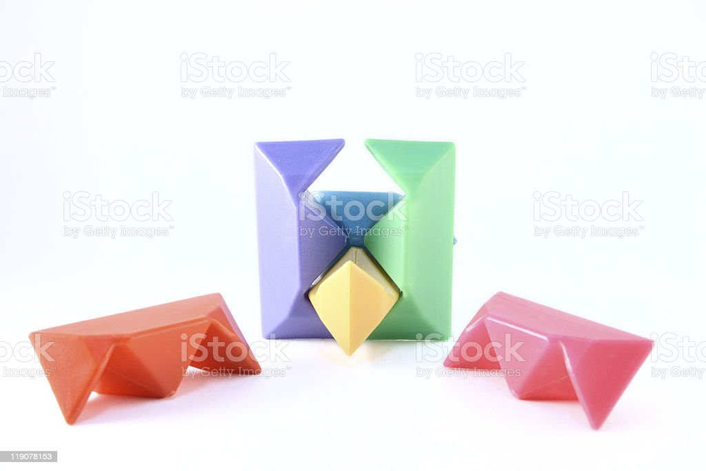 The childrens toy-puzzle stock photo