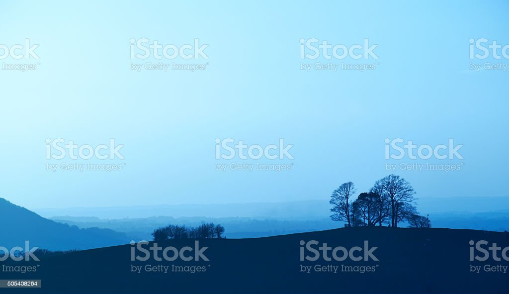 The Chiltern Hills In Buckinghamshire stock photo