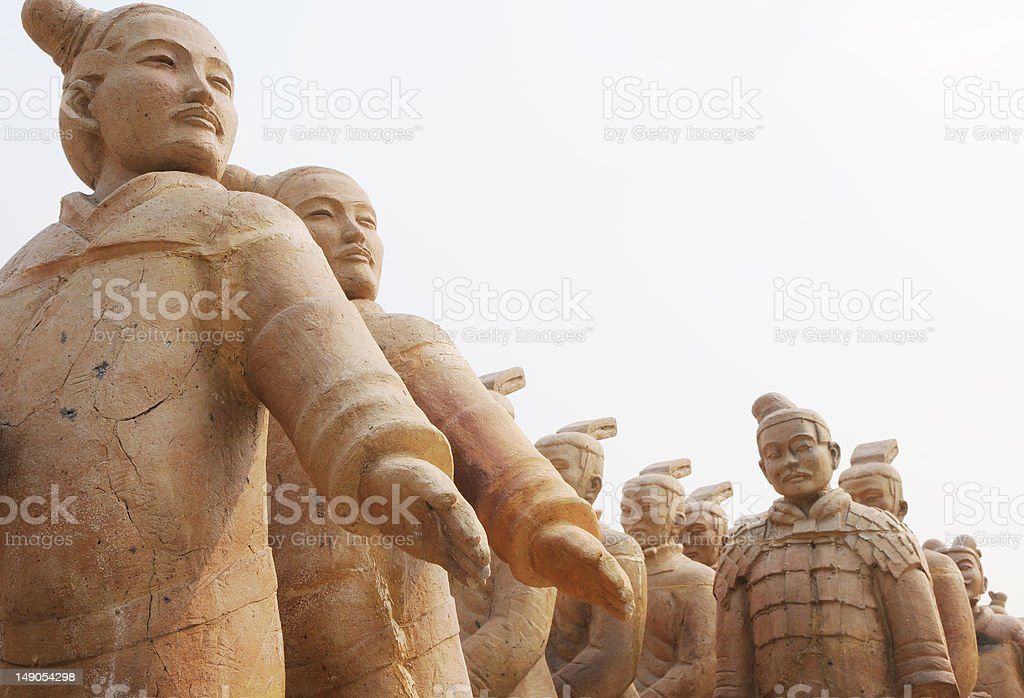 The Chinese terracotta warriors royalty-free stock photo