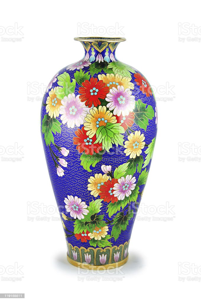 The Chinese vase. royalty-free stock photo