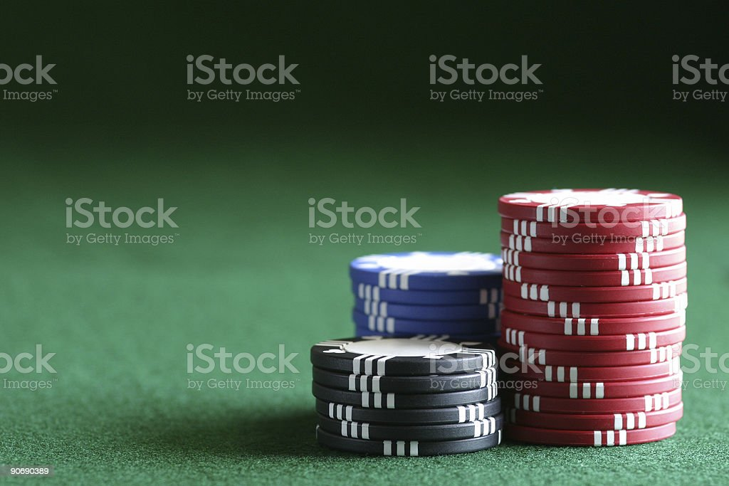 The Chips Are Stacked Against You stock photo