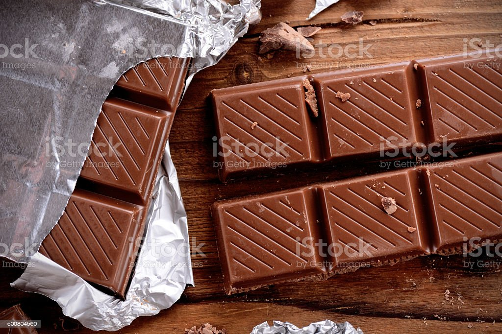 the chocolate bar stock photo