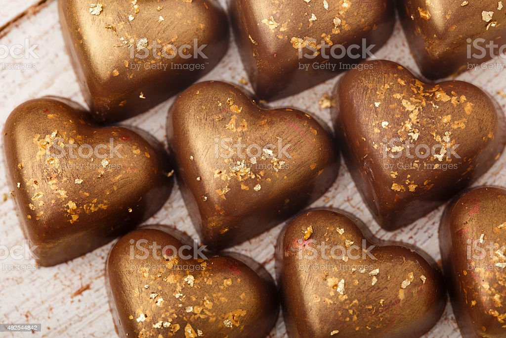 The chocolate candies stock photo