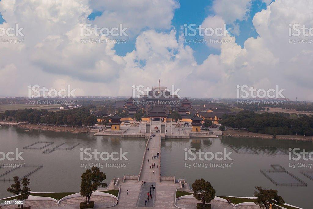 The Chongyuan temple in Suzhou stock photo