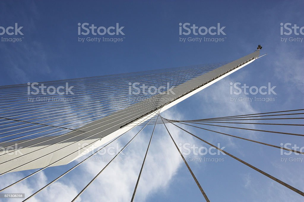 The Chords Bridge on Jerusalem Light Rail stock photo