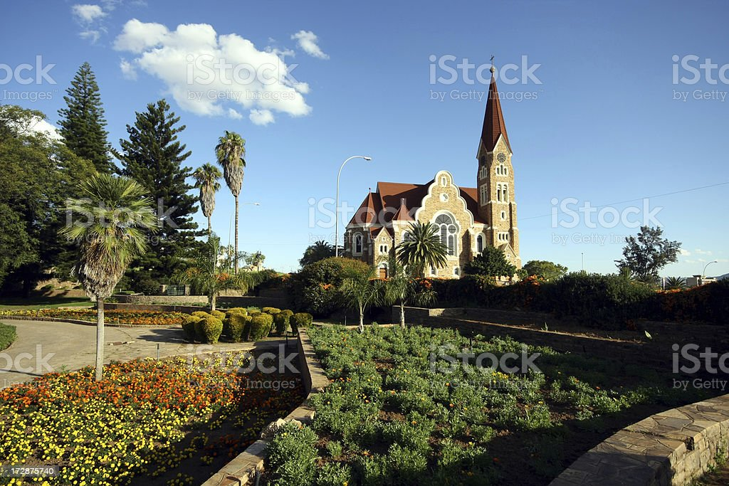 The Christ Church in Windhoek, Namibia stock photo