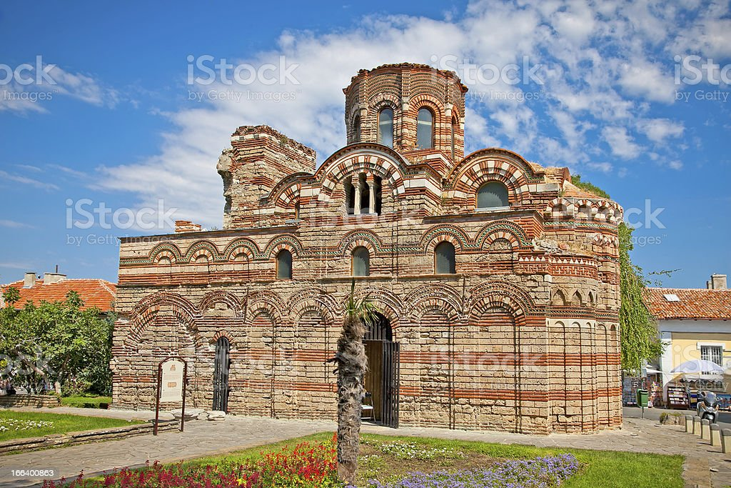 The Christ Pantocrator Curch in Nessebar, Bulgaria. stock photo