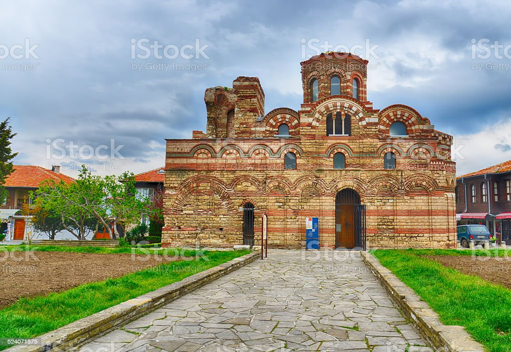 The Christ Pantocrator Curch in Nessebar,Bulgaria.UNESCO World Heritage Site stock photo