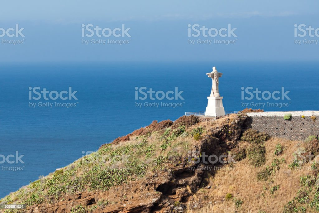 The Christ the King statue on Madeira island, Portugal stock photo