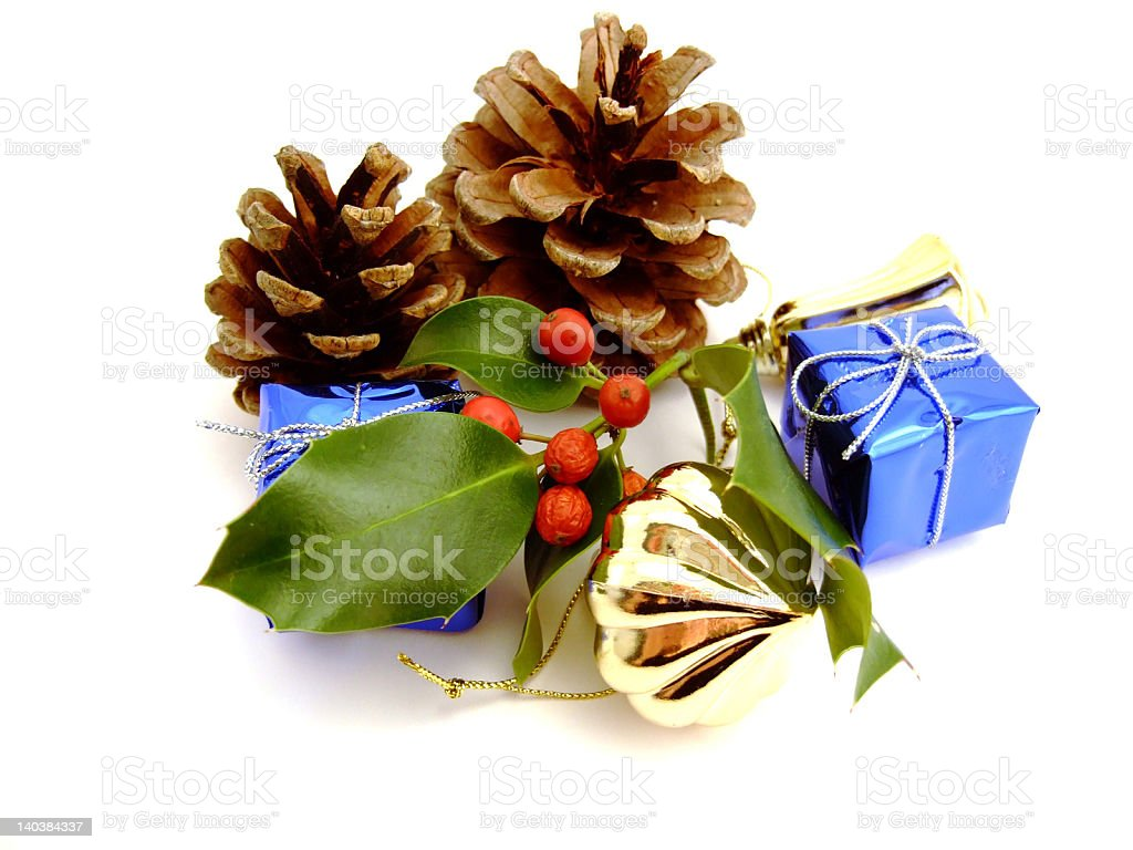 The Christmas Decorations royalty-free stock photo
