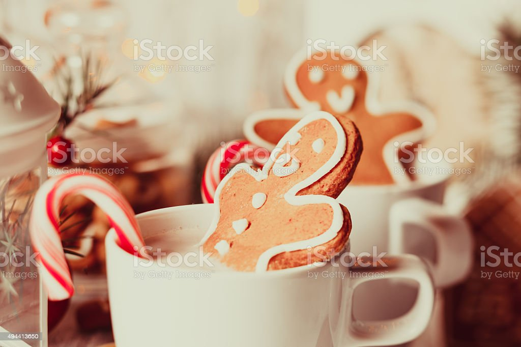 The Christmas dessert stock photo