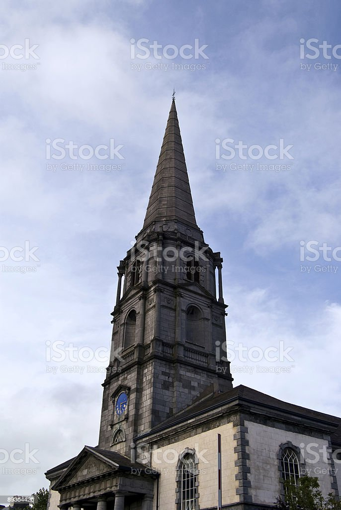 The chruch tower stock photo