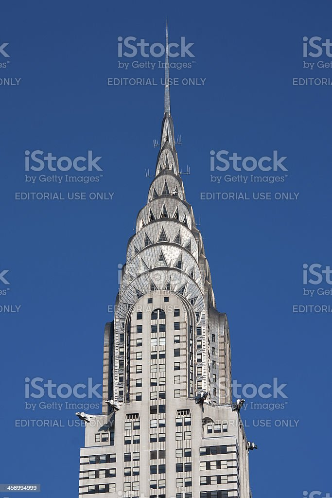 The Chrysler Building royalty-free stock photo