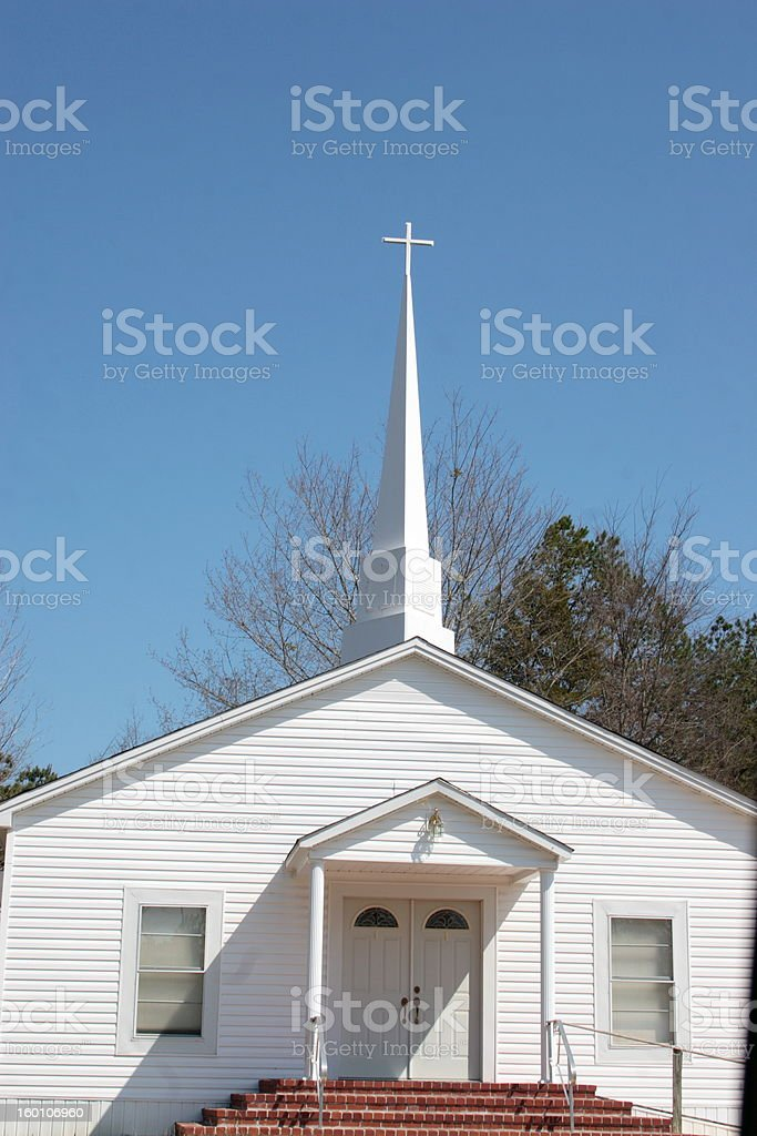 The Church and its Steeple stock photo